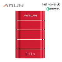 ARUN 10000 mAh Power Bank QC3.0 Intelligent Type c External Battery 2 USB Portable Mobile Charger For Xiaomi iPhone X Huawei