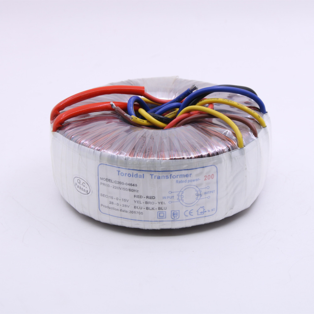 все цены на 200W Dual 28V+ Double 15V HiFi Toroidal Transformer 200VA Pure Copper Audio Power Transformer For DIY Amplifier онлайн