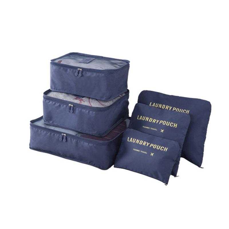 HKOTIIK brand travel bag large capacity clothing finishing bag luggage storage bags organizer travel accessories 6 sets