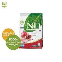 N&D Cat Chicken & Pomegranate Kitten корм для котят, Цыпленок и гранат, 1,5 кг.