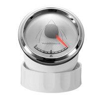 12/24 V 52mm Boot Roer Hoek Indicator Gauge Met KE41000 Dubbellaags Anticondensmiddel Glas SUS316 Rvs Navigeren Yacht