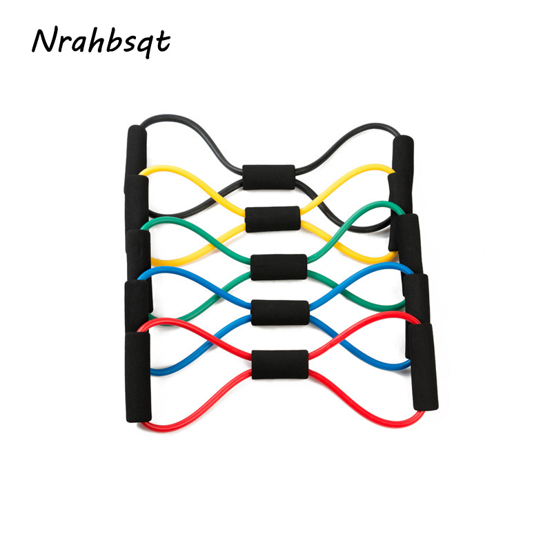 NRAHBSQT 8 Shape Elastic Rubber Loop Pull Tension Rope Band