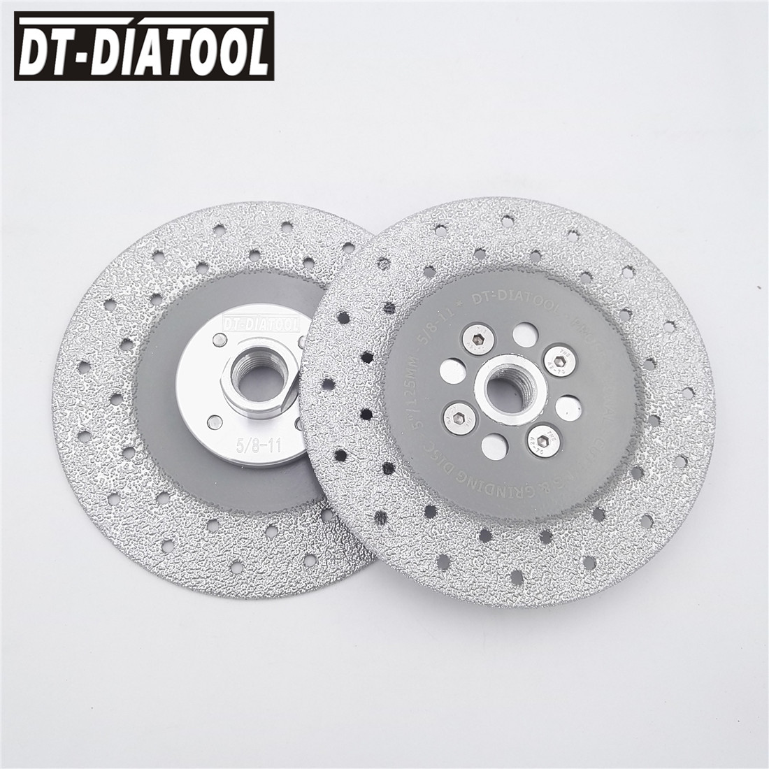 2pcs/units 5 Double Sided Vacuum Brazed Diamond Cutting wheel Grinding Disc 5/8-11 Flange Diameter 125MM for Shaping stone 5 11