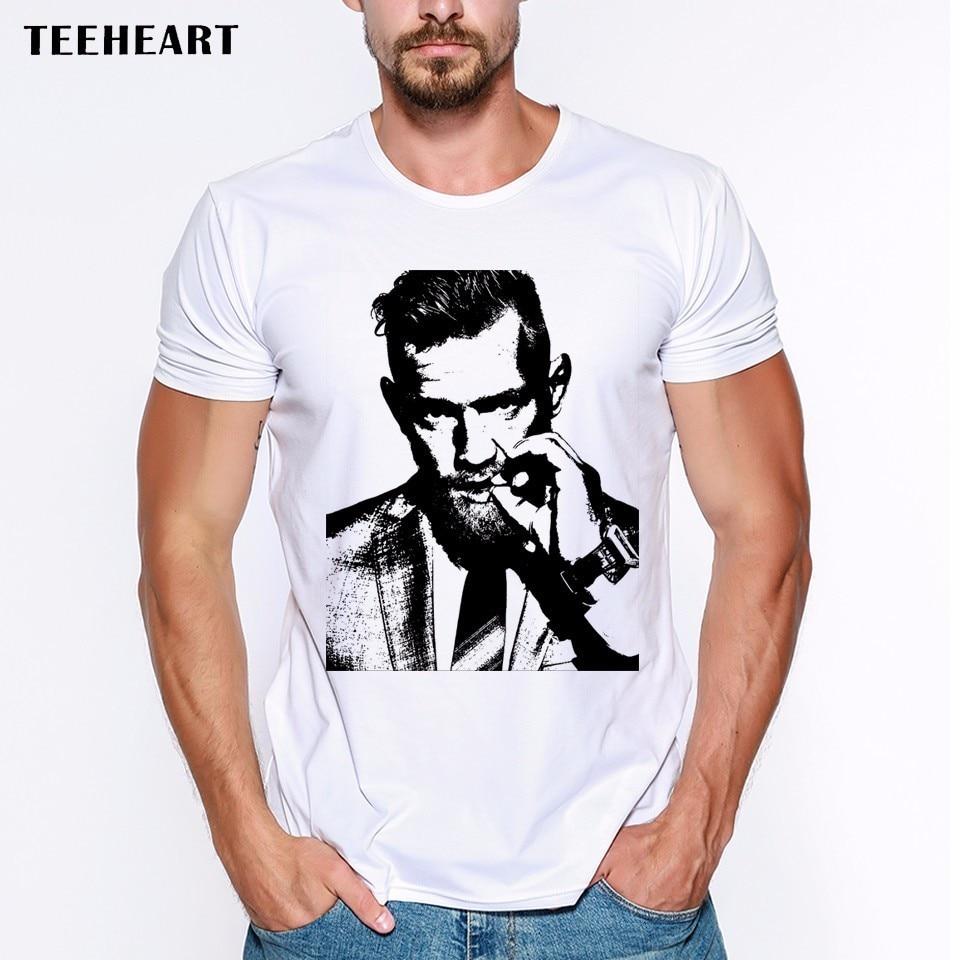 Summer Conor McGregor UFC KFC Colonel Harland Sanders Creative Design Printed Short Sleeve   T     Shirt   Men Tees Funny   T  -  Shirt