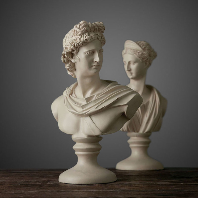 US $83 97 12% OFF Nordic ornaments retro David and Venus statue sculpture  personas head office creative office decoration-in Statues & Sculptures  from