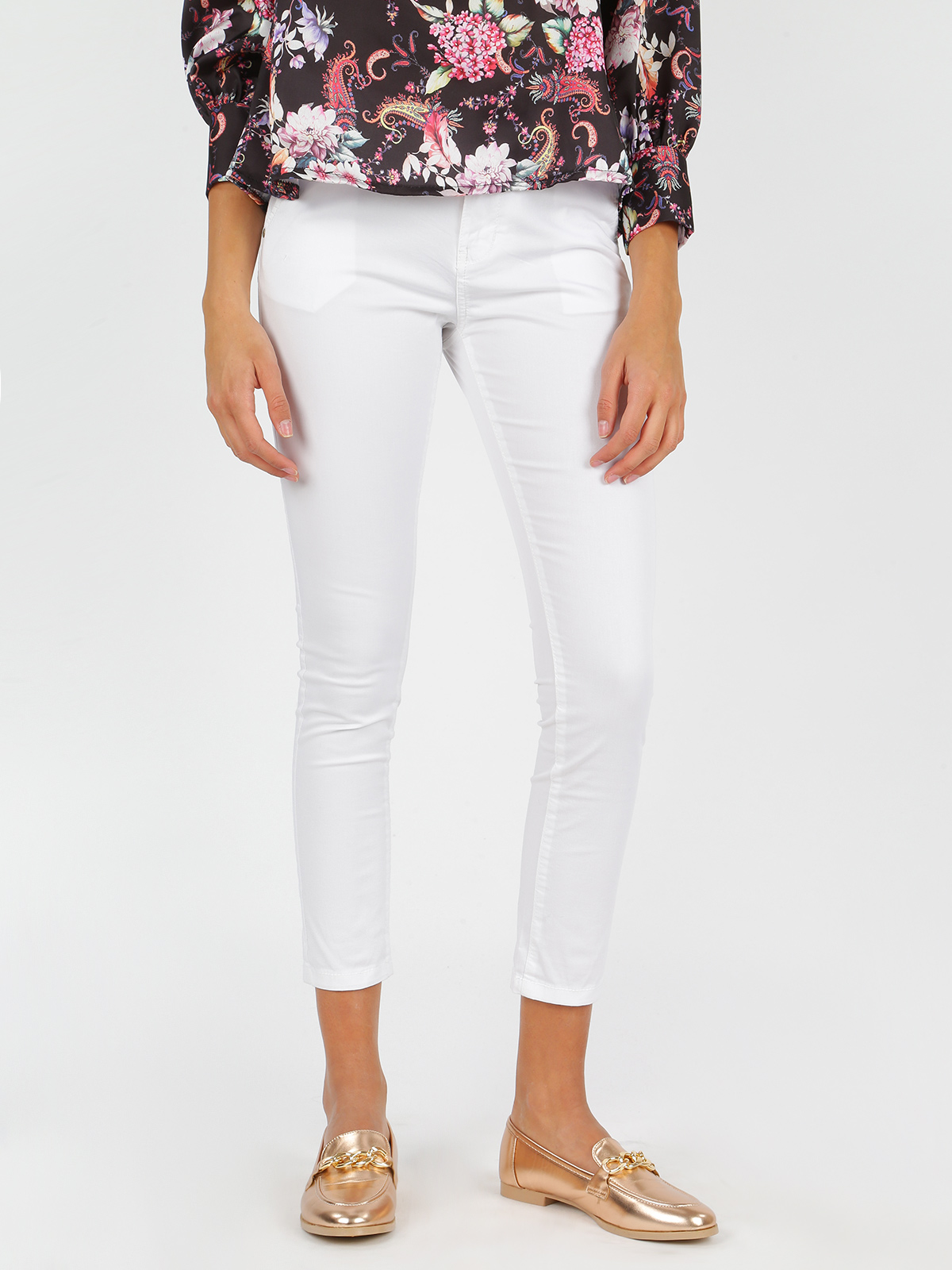 White Trousers Low Waist