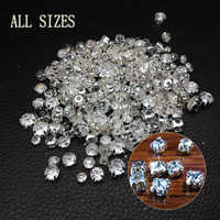 SS12-SS45 Different Size Silver Base Clear Crystal Sew On Cup Beads, Flatback Claw Beads For DIY Garment