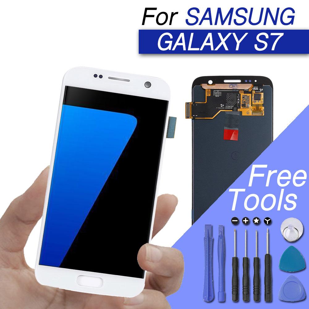 Remplacement lcd pour samsung galaxy s7 lcd affichage écran digitizer écran lcd assemblée d'écran pour samsung galaxy s7