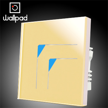 Wallpad Luxury 2 Gangs 2 Way Glass Touch Wall Light Switches Panel,Gold Touch LED Switch, 10A 110~250V 220VWallpad Luxury 2 Gangs 2 Way Glass Touch Wall Light Switches Panel,Gold Touch LED Switch, 10A 110~250V 220V