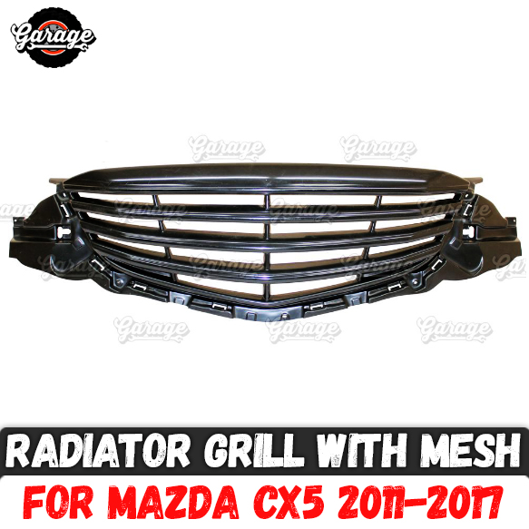 Radiator grille with mesh case for Mazda CX5 2011 2017 ABS plastic accessories protective body kit