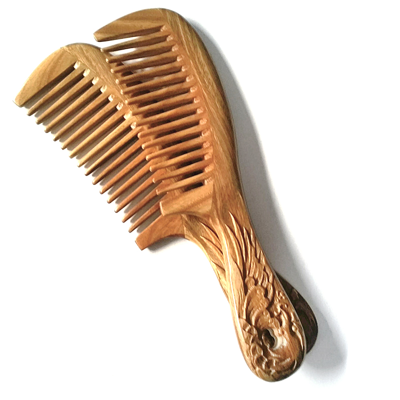MC Carved Wooden Comb Sandalwood Nature Super Wood Combs No Static Beard Comb font b Beauty