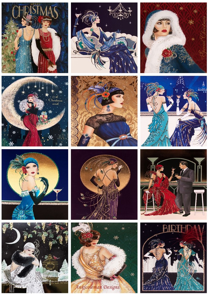 Embroidery Counted Cross Stitch Kits Needlework - Crafts 14 Ct DMC Color DIY Arts Handmade Decor - Art Deco Lady Collection