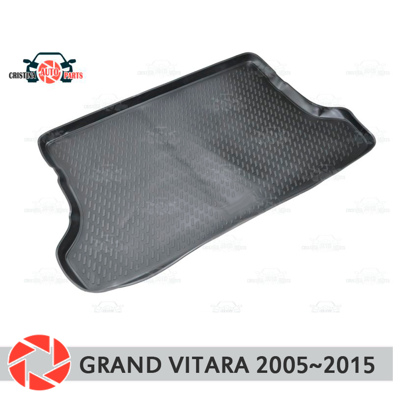 Trunk mat for Suzuki Grand Vitara 2005~2015 trunk floor rugs non slip polyurethane dirt protection interior trunk car styling for suzuki vitara right hand drive dashboard mat protective pad black red car styling interior refit sticker mat products