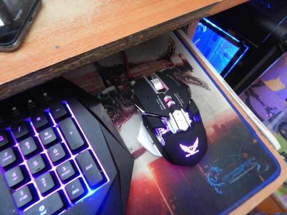 2018 NEW Mechanical Gaming Mouse Game Competitive Mice Adjustable 3200DPI 7 Programmable Buttons LED backlight for LOL Comouter