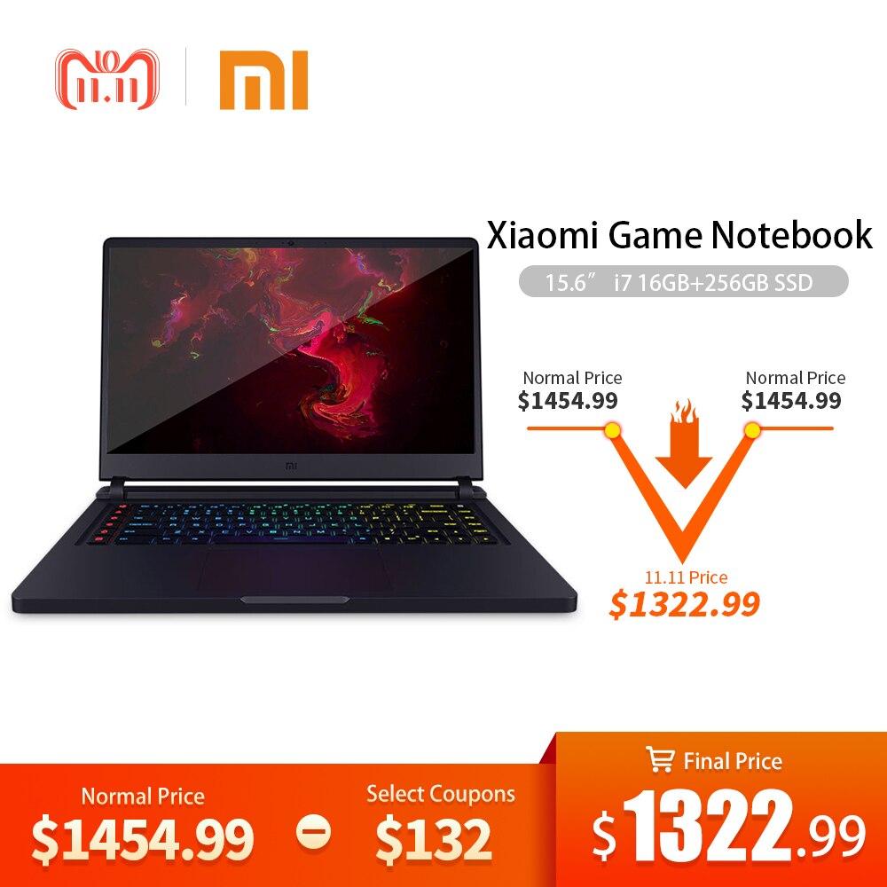 Xiaomi juego portátil de 15,6 Intel Core i7 16 GB DDR4 256 GBSSD + 1 TB portátil GTX1060 6 GB GDDR5 Windows10 retroiluminado teclado de la computadora
