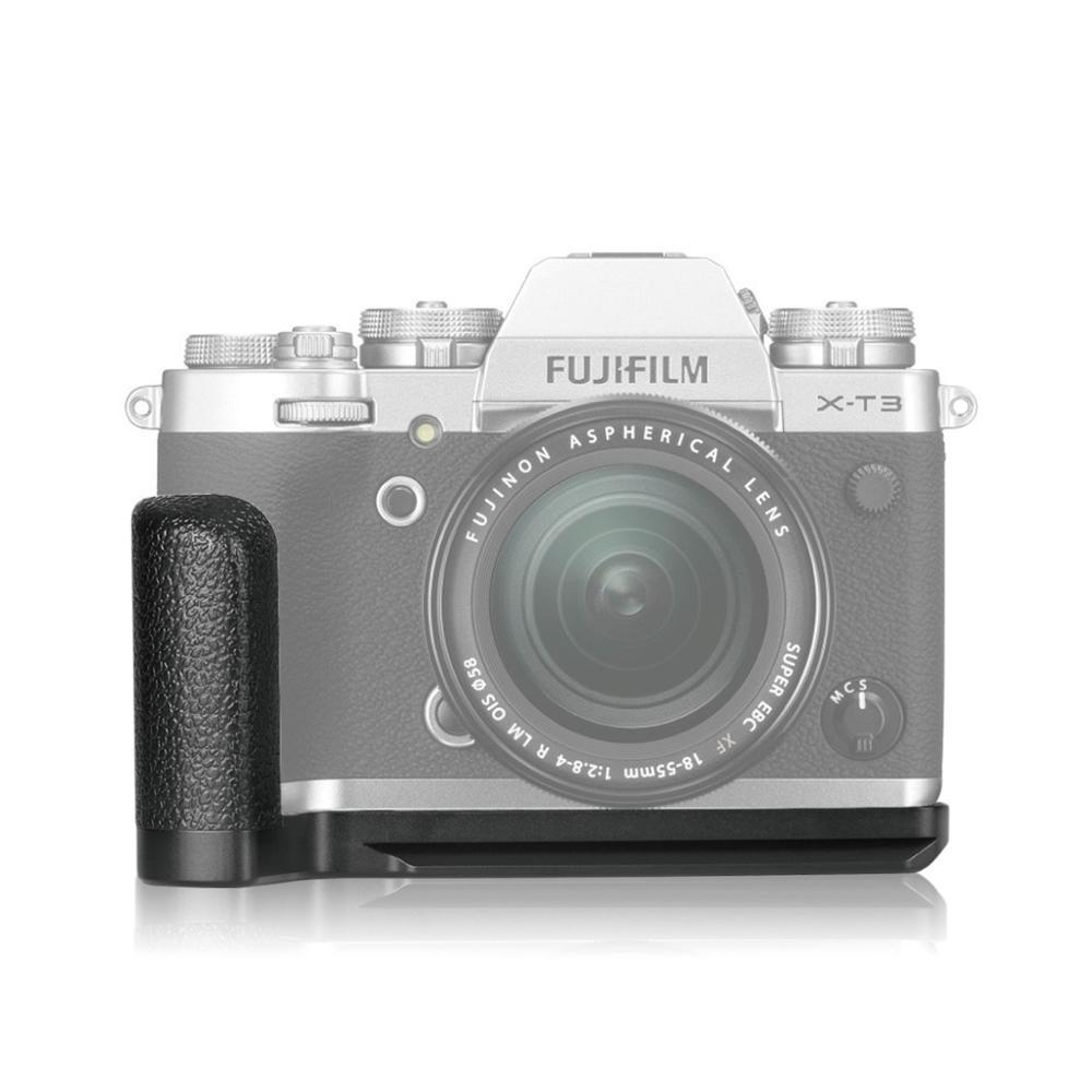 Meike MK XT3G Aluminum Alloy Hand Grip Quick Release Plate L Bracket for Fujifilm Fuji X