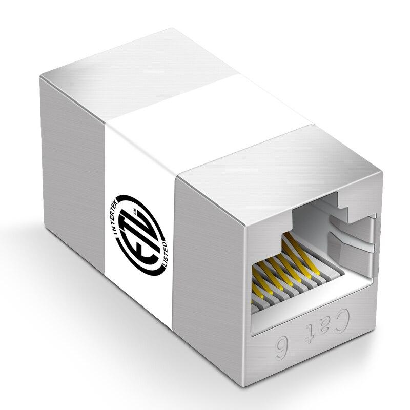 CNCOB RJ45 conector Cat7/6/5e adaptador 8P8C red Cable de extensión