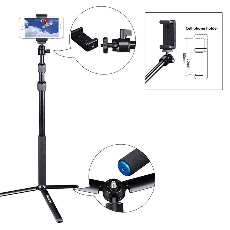 Smatree bâton de Selfie télescopique avec trépied support pour GoPro Hero 7/6/5/4/3 + caméras, Ricoh Theta S, OSMO Mobile 2/DJI OSMO Action - 3