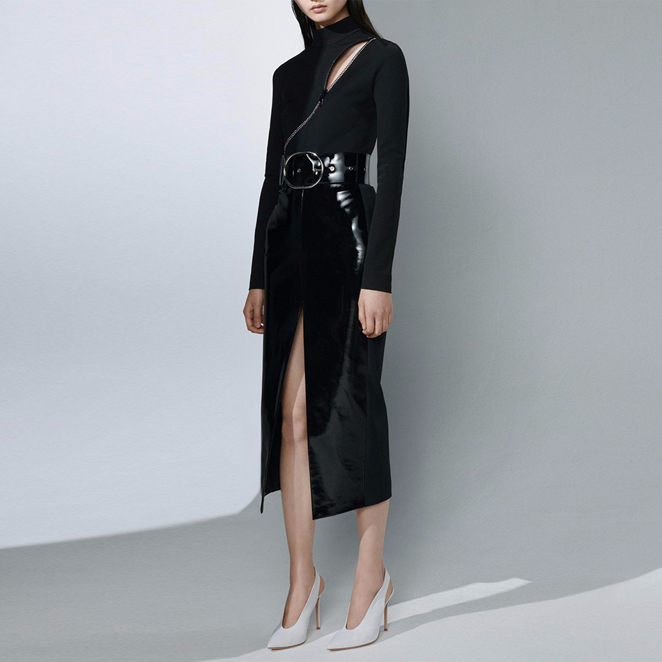 Adyce Women Bandage Dress Vestidos Verano 2019 New Summer Sexy Black Bodysuit Two Pieces Sets Midi