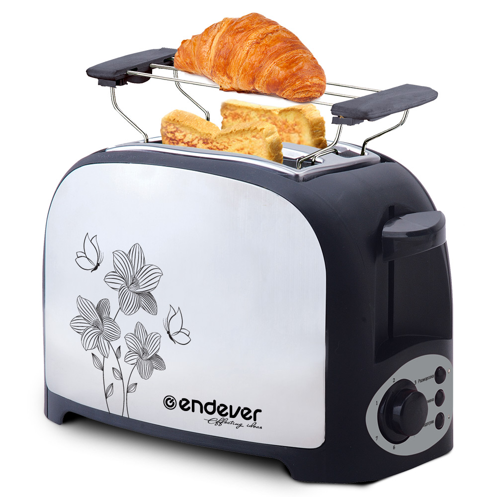 Toaster Endever Skyline ST-117 free shipping fashion toaster