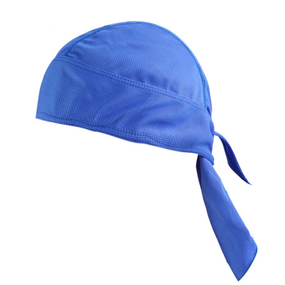2018 New Anti-sweat UV Headwear Cap Quick Dry Solid Cycling Headbands Cycling Headscarf Headband Men Running Riding Pirate Hat