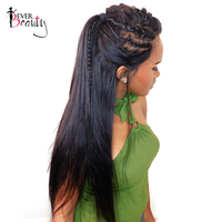 Ever Beauty 180 Density 360 Lace Front Wig Pre Plucked Brazilian Straight Human Remy Hair Natural