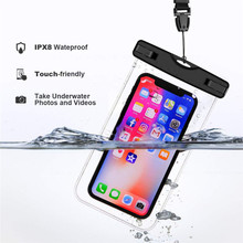Universal Waterproof Case for iPhone X XS Max Cover Pouch Swimming Phone Bag Waterproof Bag Diving Bag