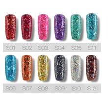 3D Star Moon Glitter Nail Art Manicure Soak Off UV Gel Lacquer Polish Varnish