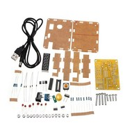 High Quality 1 Set DIY Frequency Tester 1Hz 50MHz Crystal Counter Meter With Housing Kit