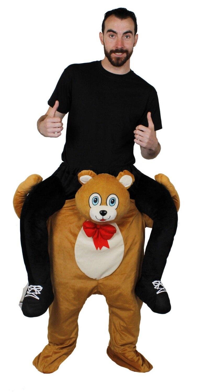 TEDDY BEAR PICK ME UP RIDE ON ANIMAL NOVELTY COSTUME MENS LADIES FANCY DRESS
