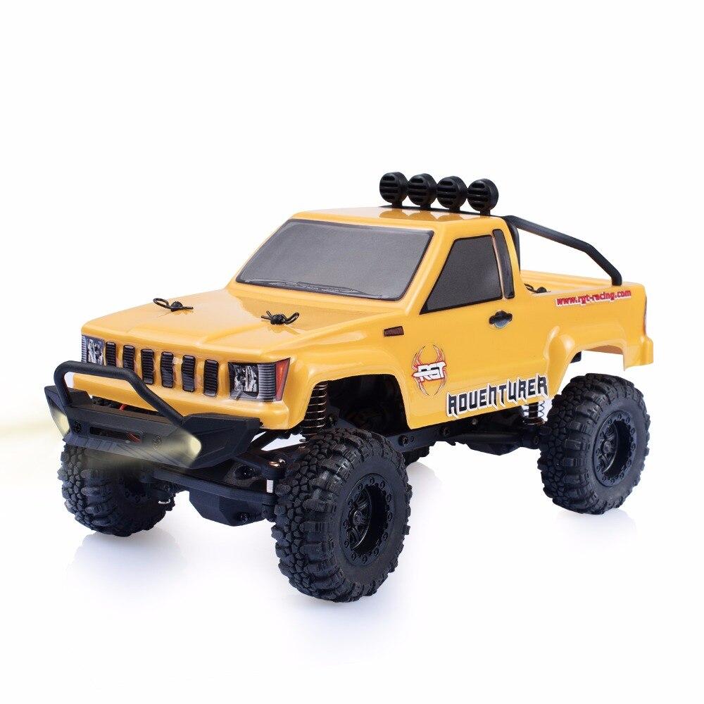 RGT Rc фианитами 1/24 масштаб 4wd бездорожью Rc автомобилей 4x4 мини Monster Truck RTR Рок Гусеничный с огни