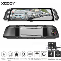 XGODY G900 10 Dual Lens Car DVR Video Recorder 1080P Rear View Mirror Camera Dash Cam Night Vision G sensor SD USB DVRs Dashcam