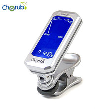 Cherub WST-525 New Clip Clip-on Tuner Chromatic LCD Display b bb Tuning for Guitar Bass(6-string) Violin Ukulele C Ukulele D