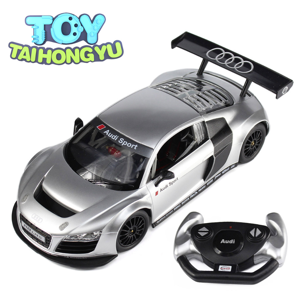 TAIHONGYU 1:14 Silver Audi Sport R8 LMS RC Remote Control Car Model Gift Toy + Package Box стоимость