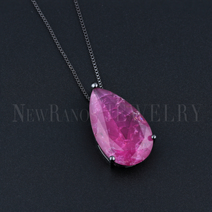 Image 3 - Newranos Water Drop Pendant Necklace Natural Crashed Stone Necklace Statement Jewelry for Women Fashion Jewelry NFX001724