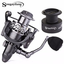 Sougayilang Spinning Fishing Reel with Spare Spool 13+1BB 1000-5000 Series Fishing Coil Reel Wheel Carretilhas Reel De Pesca