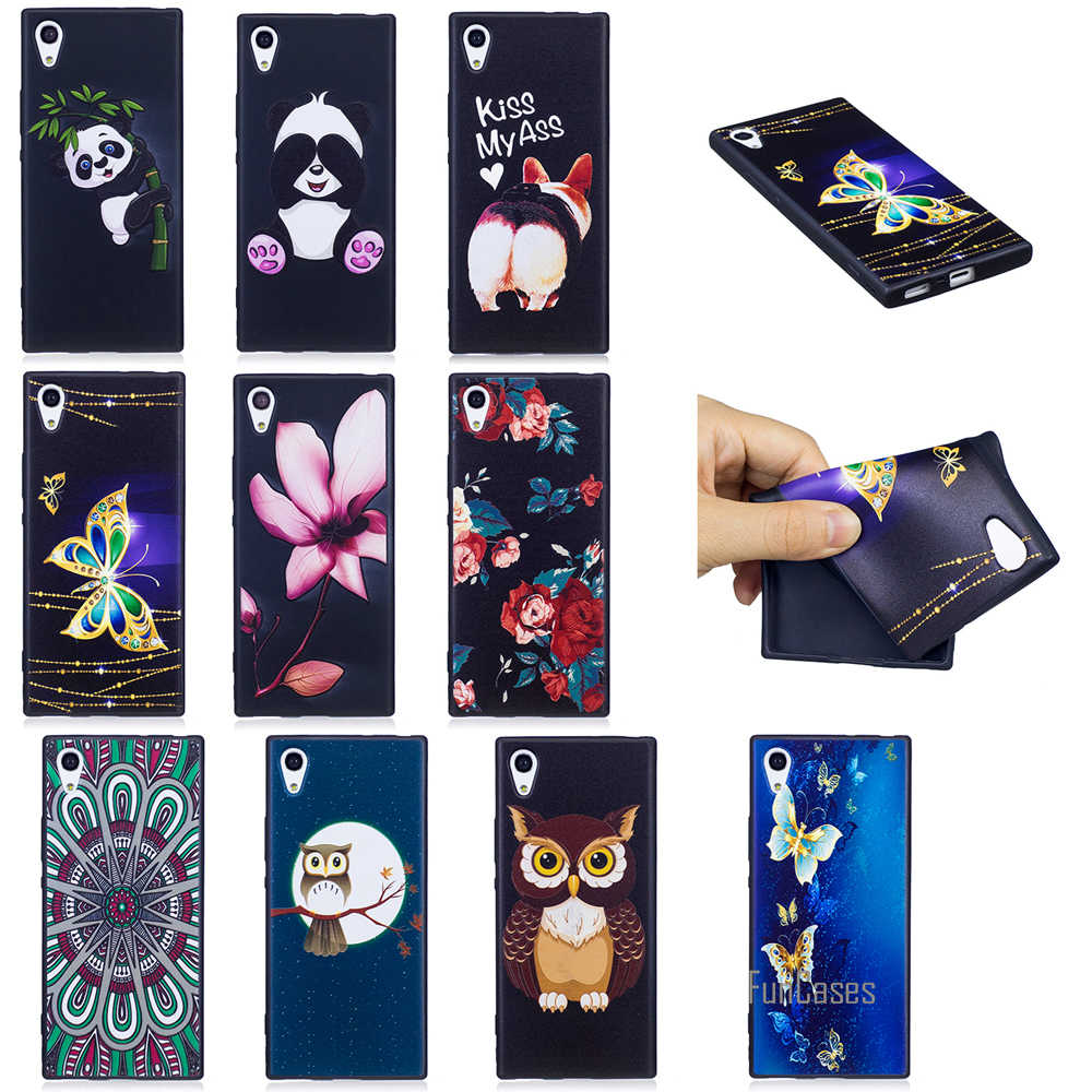 Top Quality HD Relief Soft TPU Phone Case For Sony Xperia XA1 Safflower Case For Sony Xperia XZ XZS Cell Phone Mobile Case Coque