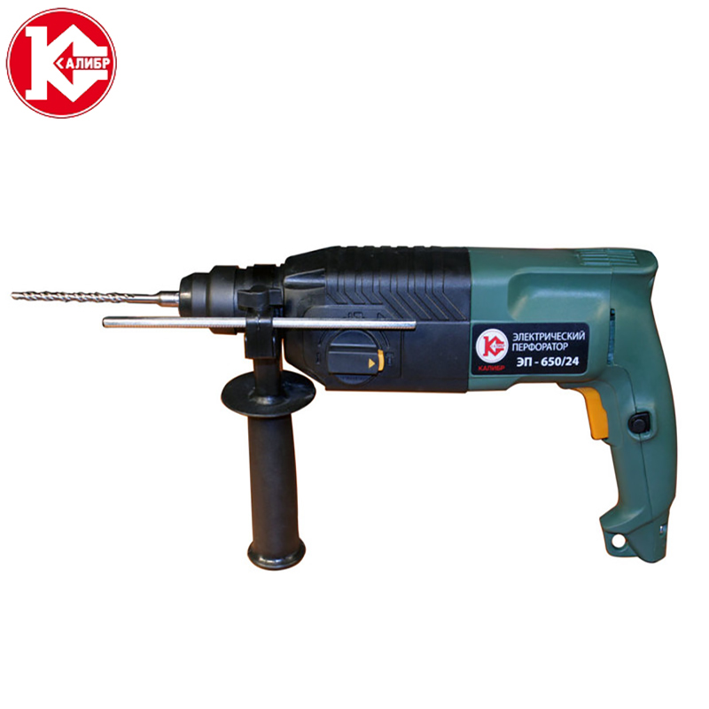 Kalibr PE-650/24 Electric hammer  electric purpose multi-purpose industrial grade high power light impact drill concrete kalibr demr 1050eru electric drill household impact drill multi function drill wall screwdriver gun light hammer powder tools