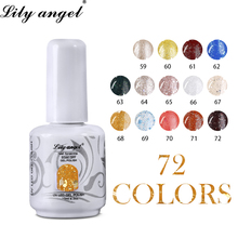 LiLy Angel 15ml Color Nail Polish Long Lasting Colors Lacquer Number on Top for  Salon Soak Off Gel