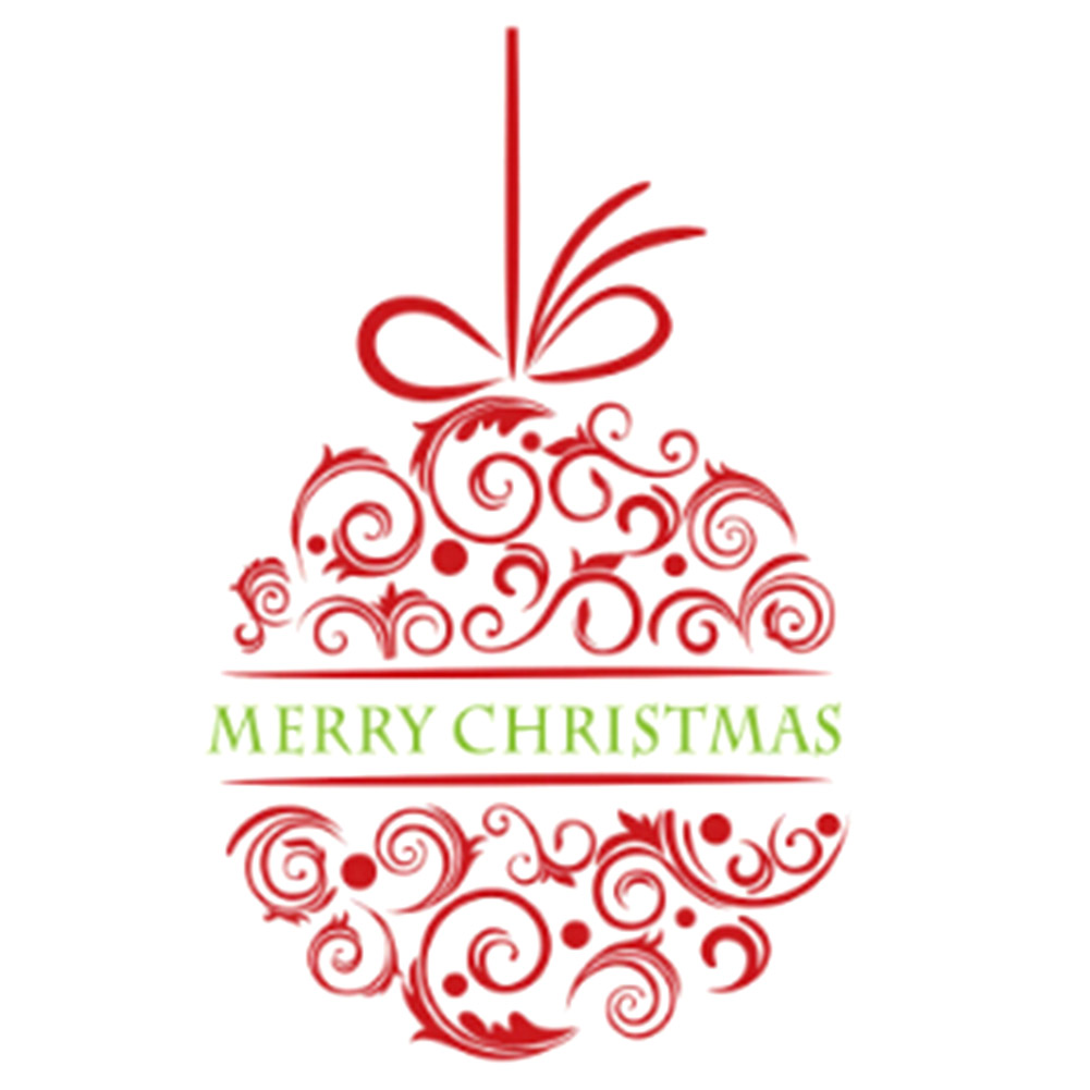 Merry Christmas Ball Wall Stickers Decal Removable PVC Art Vinyl Wall Sticker Home Kids Bedroon Decoration Red ...