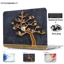 цена на POSEIT For Apple Macbook Air 11 13 Plastic Hard Case Cover for Macbook Pro Retina 12 13 15 Laptop Shell+Keyboard Cover+Dust Plug