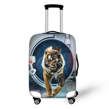 Animal elephant tiger travel accessories suitcase protective covers 18-32 inch elastic luggage dust cover case stretchable bag pvc suitcase bag protective covers transparent rain dust luggage travel accessories wear resistant bag protect parts sleeve case