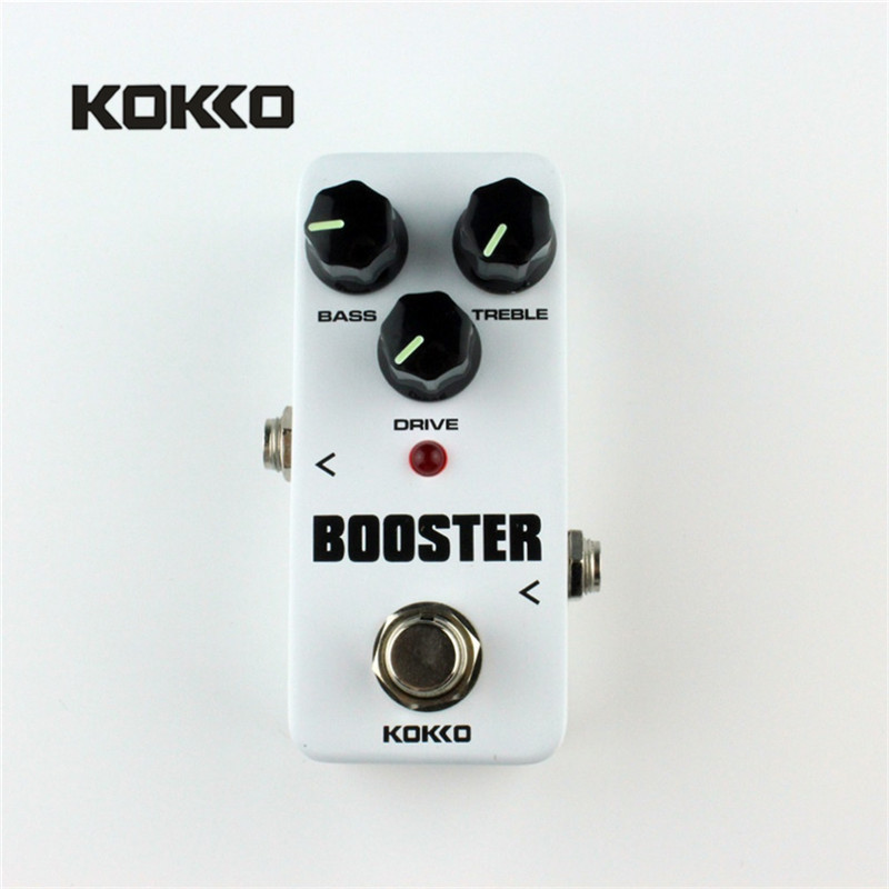 KOKKO FBS2 Mini Guitar Effect Pedal Guitarra Booster High-Power Tube Electric Guitar Two Segment EQ Effect Device Parts 1pc guitar parts truss rod two way or two course guitar truss rod red plastic wrapping durable