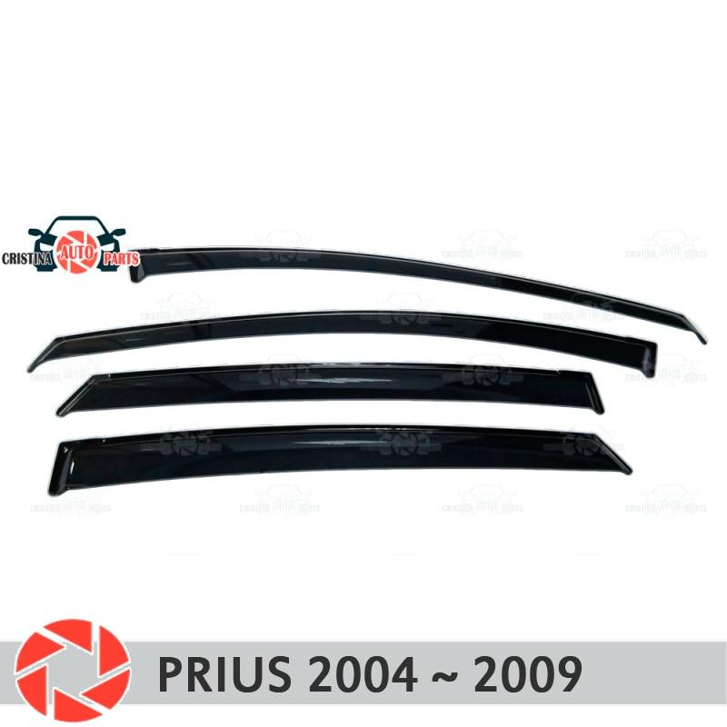 Window deflector for Toyota Prius 2003~2009 rain deflector dirt protection car styling decoration accessories molding комплект 3d ковриков в салон автомобиля element toyota prius 20 rh 2003 2009