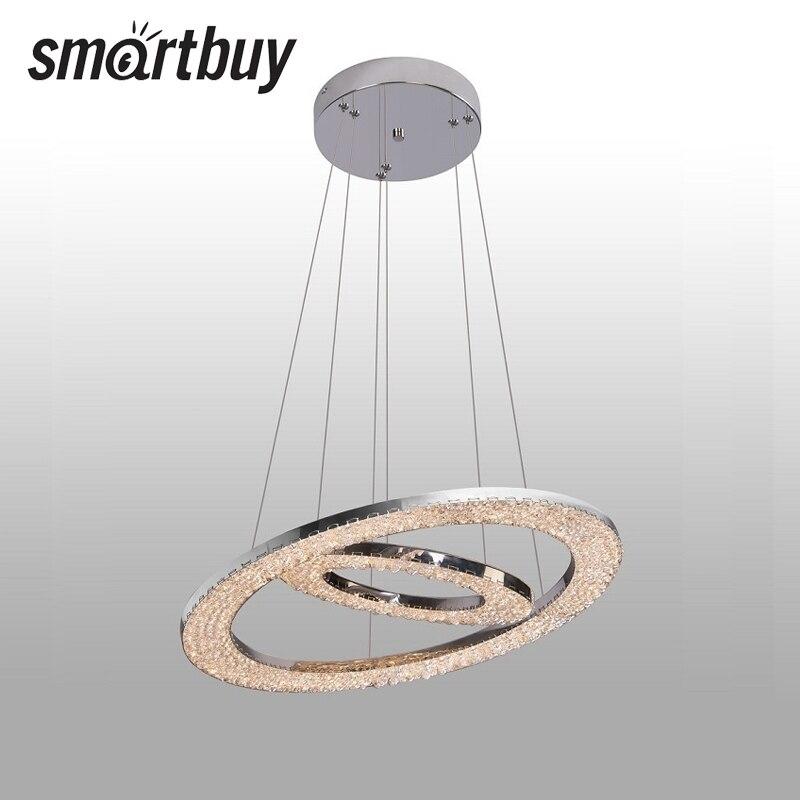Chandelier SmartBuy Crystal 7008, led, 3 color dimming, 55 W, 7008dim, SBL-CR-55W-7008dim contemporary 3 light crystal chandelier 220 240v