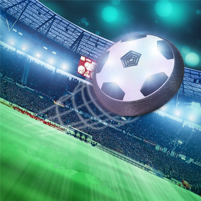 e23871df94a8 Air Power Soccer Disc Football Indoor Outdoor Hover Ball LED Lighting Music  Toys For Kids Children