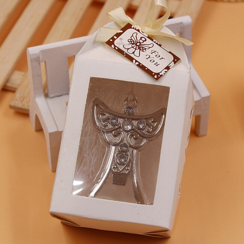 Wedding Souvenir Angel Bottle Opener Party Small Gift With Box For Wedding Decorations Accessories