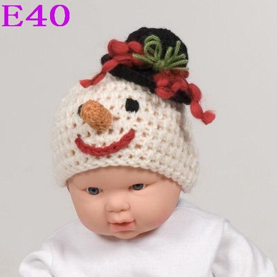Christmas Gift Handmade Baby Snowman Beanie Hat Crochet Funny Winter Children Hat Infant Knitted Cap New Style!