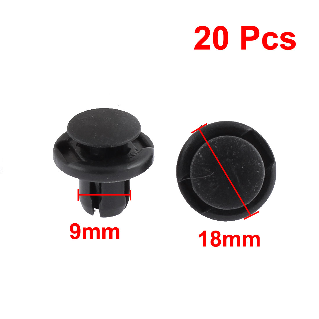 uxcell/® 30Pcs 4mm Black Plastic Rivets Push Type Panel Retainer Fastener Clip for Car