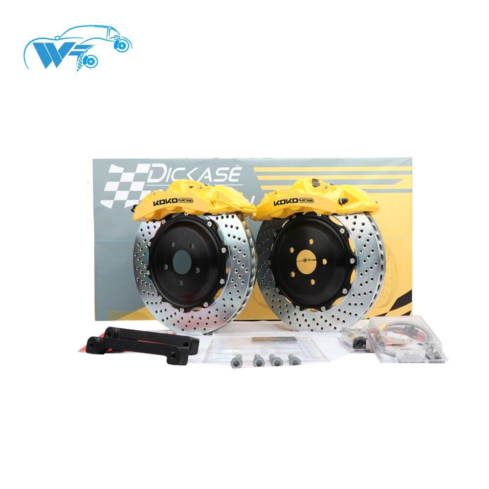KOKO RACING car accessories yellow brake caliper with J hook brake disc fit with cars brake system for honda civic type